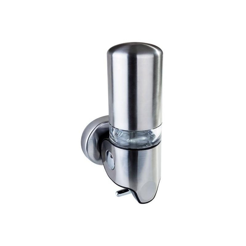 Dozownik mydła, stal nierdzewna matowa, 350ml, 122x240x110mm
