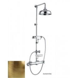 LONDON zestaw prysznicowy z bat. termostatyczną, mydelniczka, wys. 1200mm, brąz