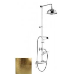 LONDON II zestaw prysznicowy z baterią, mydelniczka, wysokość 1267mm, brąz