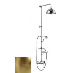 LONDON II zestaw prysznicowy z baterią, mydelniczka, wysokość 1291mm, brąz