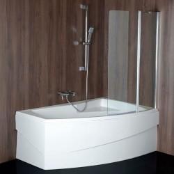 TARUS parawan wannowy 960mm, szkło czyste