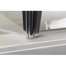 RUIZ parawan wannowy 900mm, szkło czyste