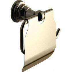 DIAMOND wieszak na papier toaletowy z klapką, brąz