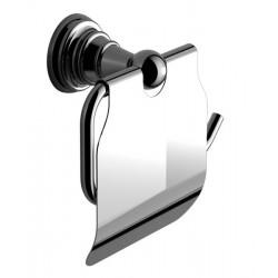 DIAMOND wieszak na papier toaletowy z klapką, chrom