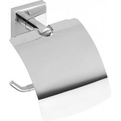 BETA wieszak na papier toaletowy z klapką, chrom