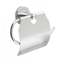 SAMBA wieszak na papier toaletowy z przykrywką, chrom